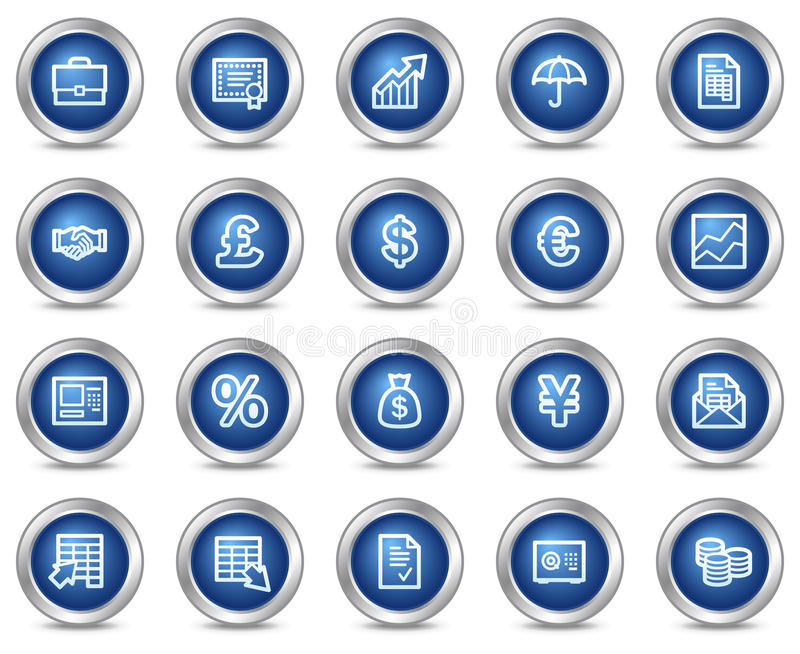 Finance web icons stock illustration