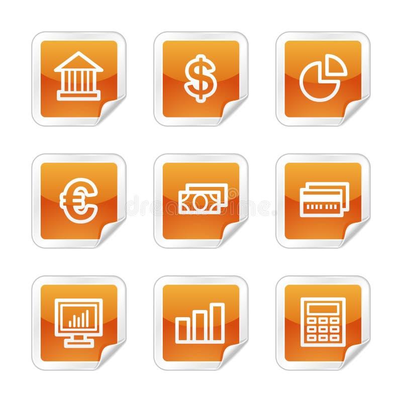 Finance web icons royalty free illustration