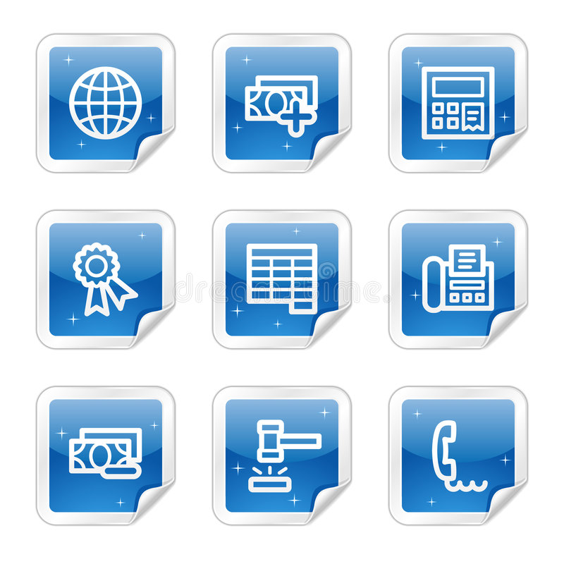 Download Finance Web Icons, Blue Sticker Series Set 2 Stock Vector - Image: 8643090