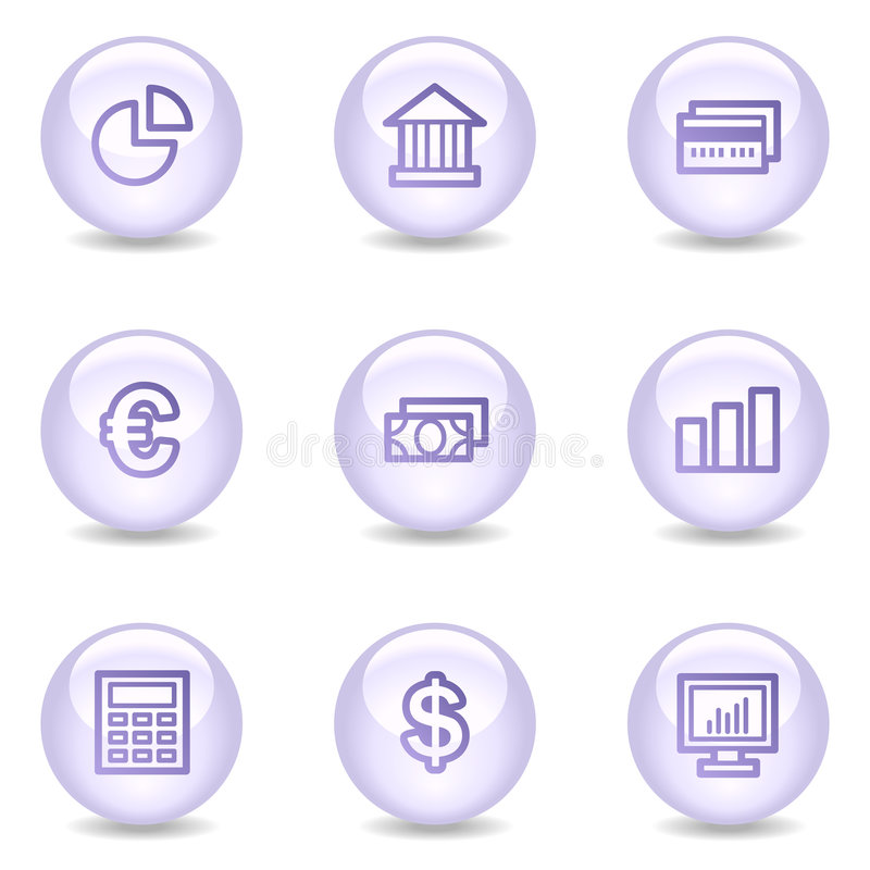Download Finance Web Icons, Glossy Pearl Series Stock Vector - Image: 8545644