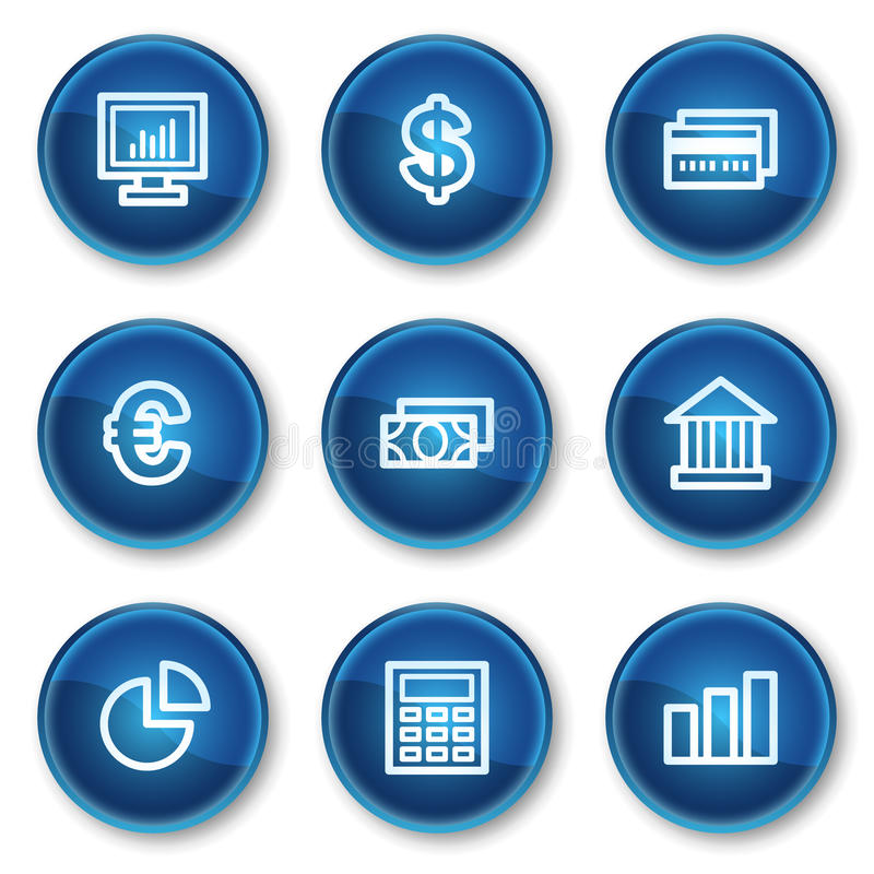Download Finance Web Icons Set 1, Blue Circle Buttons Stock Vector - Image: 13308711