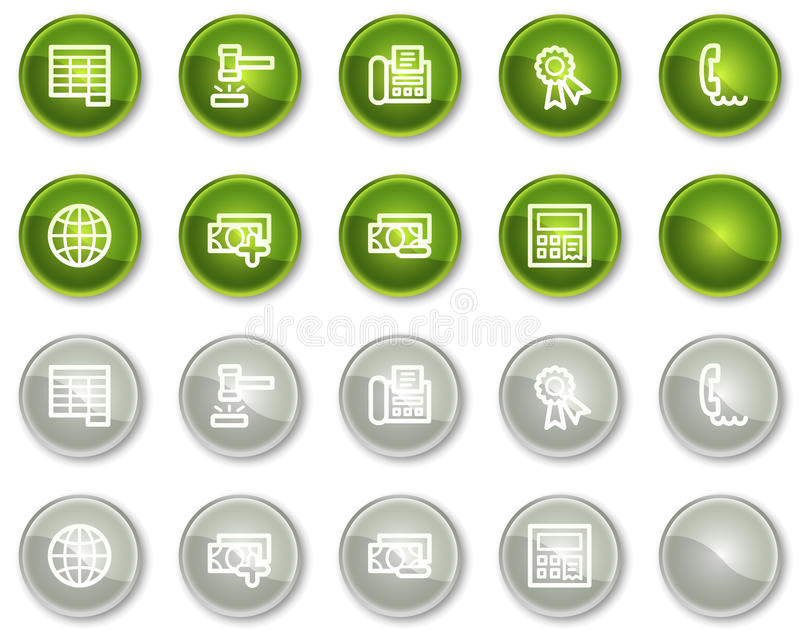 Download Finance Web Icons Set 2, Circle Buttons Series Stock Vector - Image: 12087380