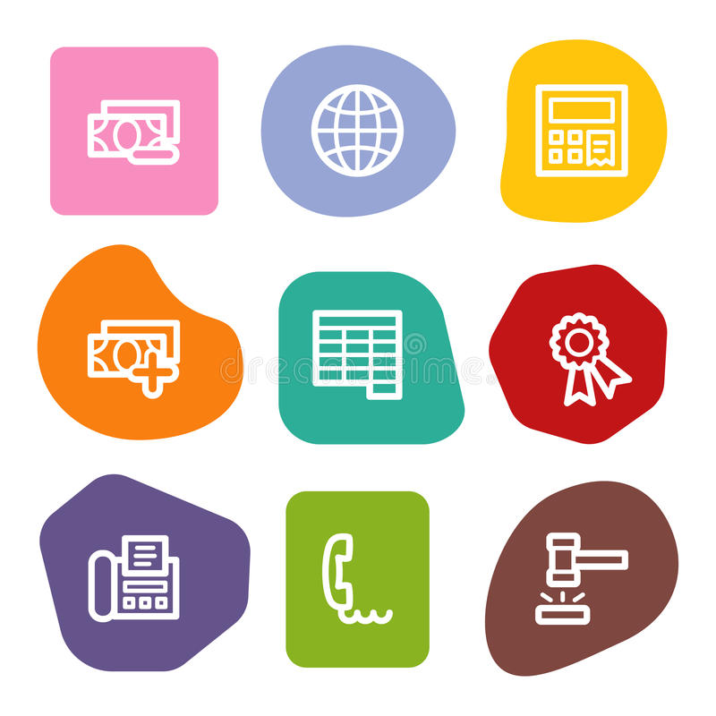 Download Finance Web Icons Set 2, Colour Spots Series Royalty Free Stock Photography - Image: 10306927