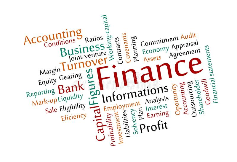 Download Finance Word Cloud stock image. Image of foreclosing - 27820305