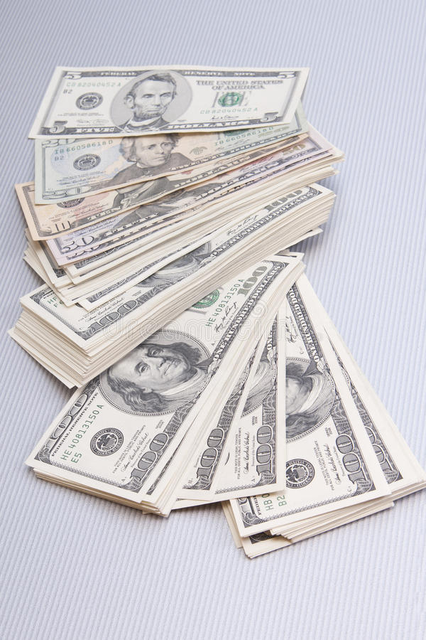 Download Finances. Big Pile Of Money Over Table Royalty Free Stock Photo - Image: 19909325