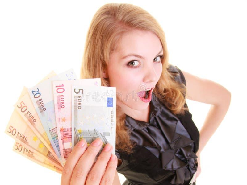 Download Finances D'économie La Femme Tient L'euro Argent De Devise Image stock - Image du comptable, cash: 45361545