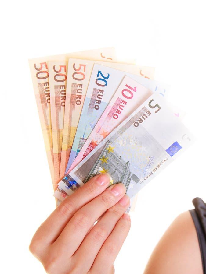Download Finances D'économie La Femme Tient L'euro Argent De Devise Image stock - Image du argent, cash: 45361563