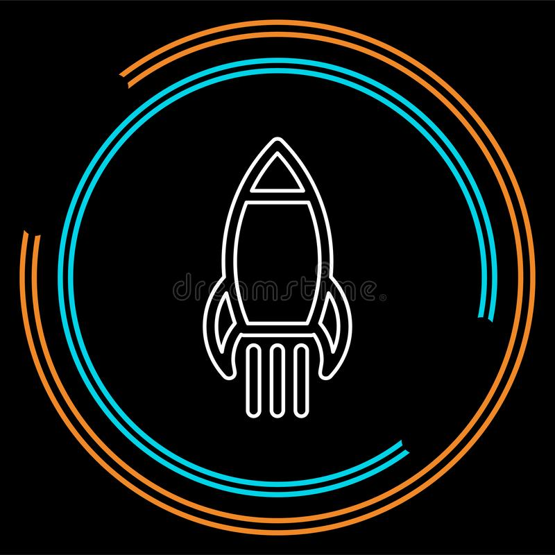 Finances d'affaires Commencez Rocket Entrepreneur illustration stock