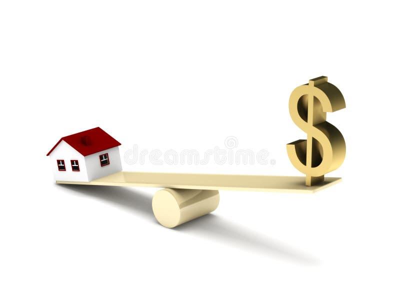 Finances d'immeubles illustration stock
