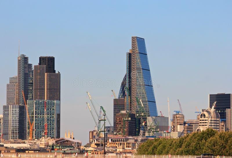 Finances de construction de ville de Londres image libre de droits