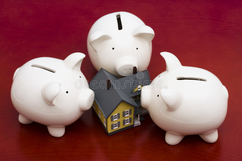 Finances de maison images stock