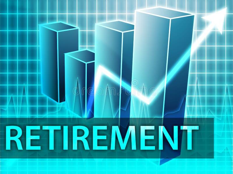 Finances de retraite illustration de vecteur