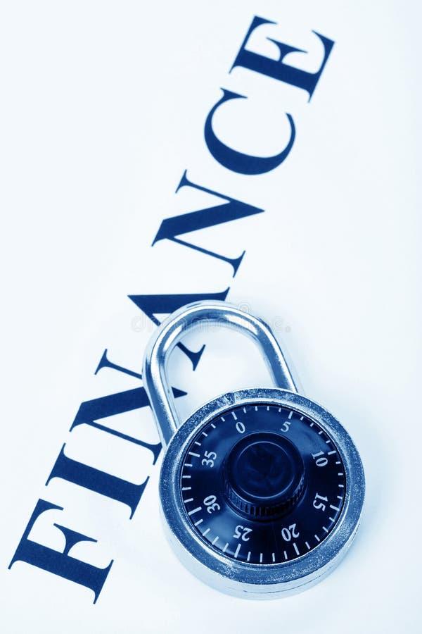 Finances et blocage de titre image libre de droits