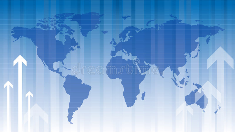 Finances globales illustration stock