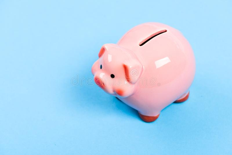 Finances and investments bank. Bank deposit. More ideas for your money. Financial education. Piggy bank symbol of money royalty free stock photos