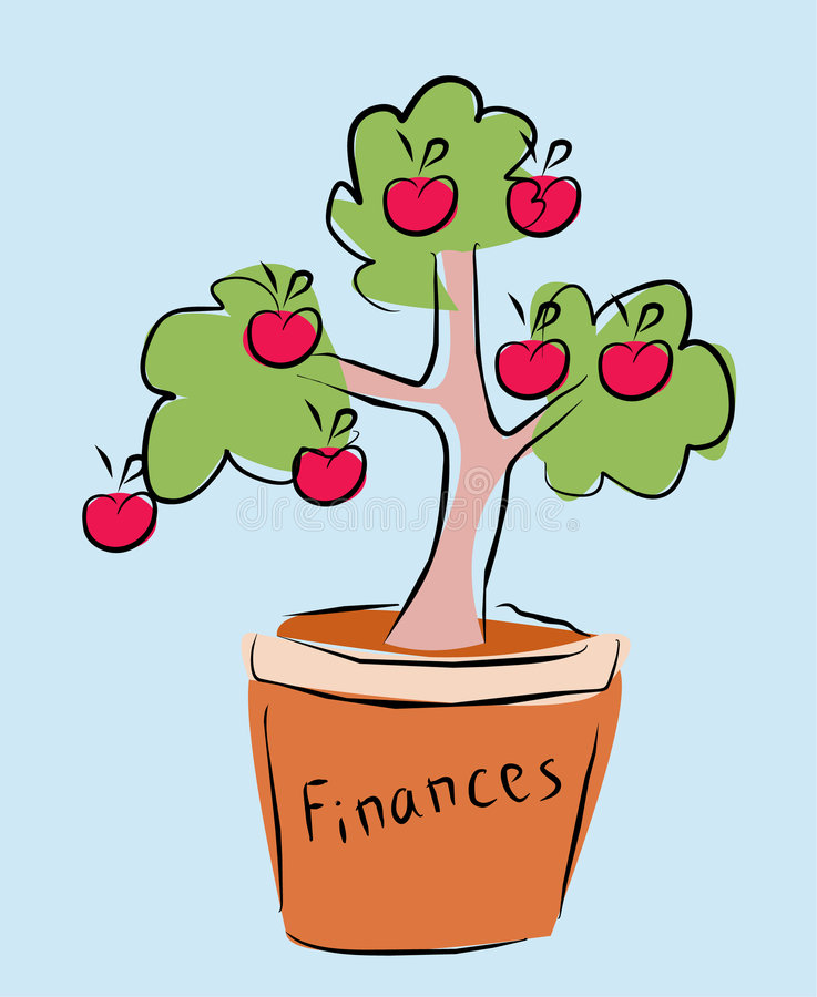 Download Finances tree stock illustration. Illustration of plant - 8882298