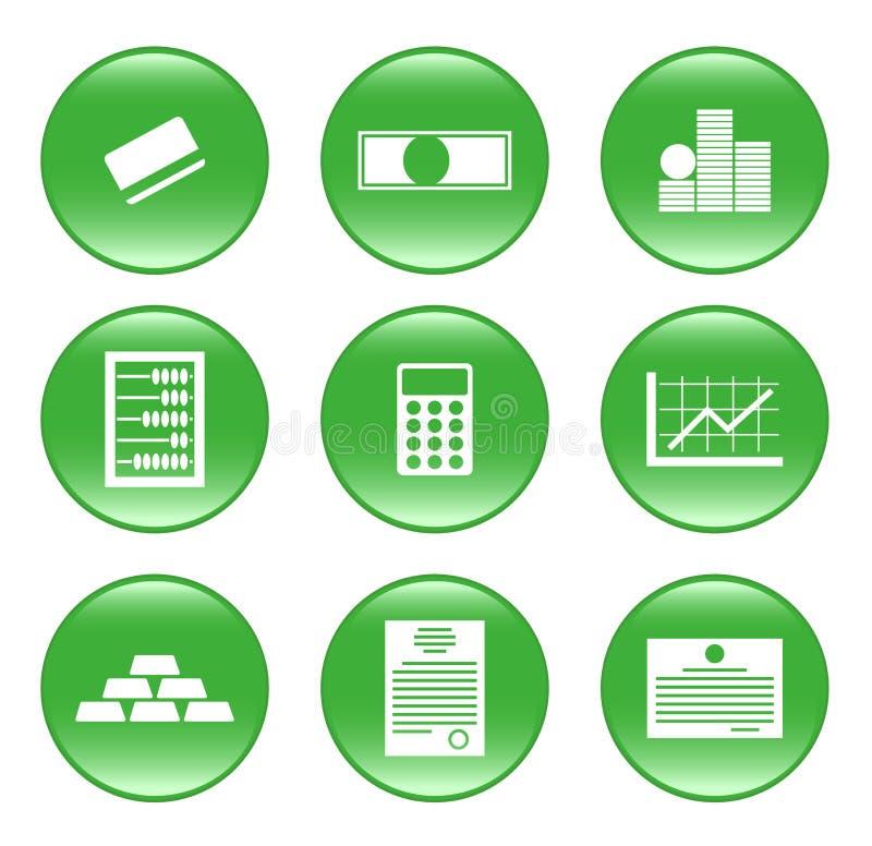 Finances - vector web icons (buttons)