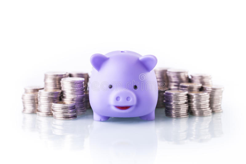 Finances on white background. Financial theme on white background. Studio shot stock image