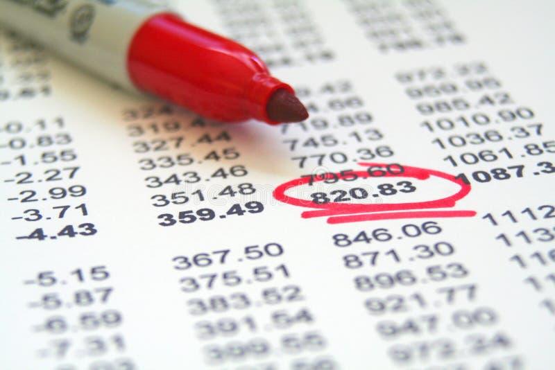 Financiële Administratie stock foto