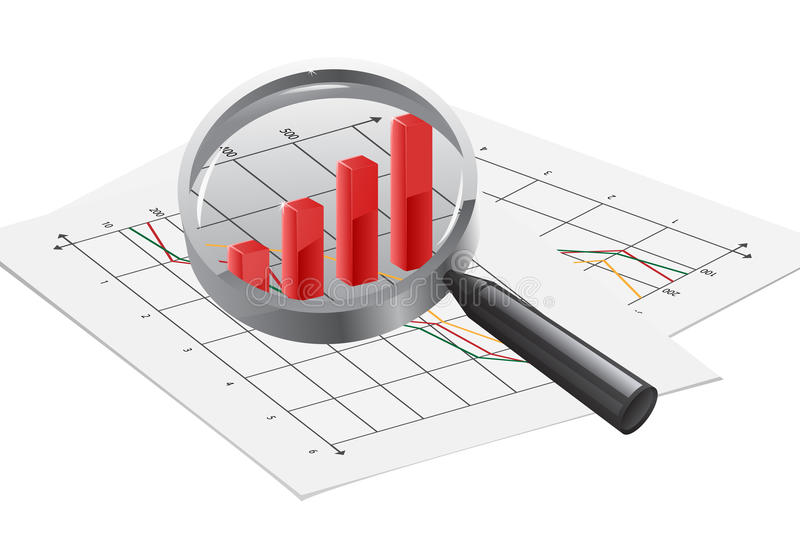 Financiële Analyse vector illustratie