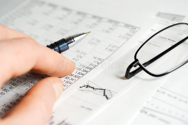 Financiële analyse. stock afbeelding