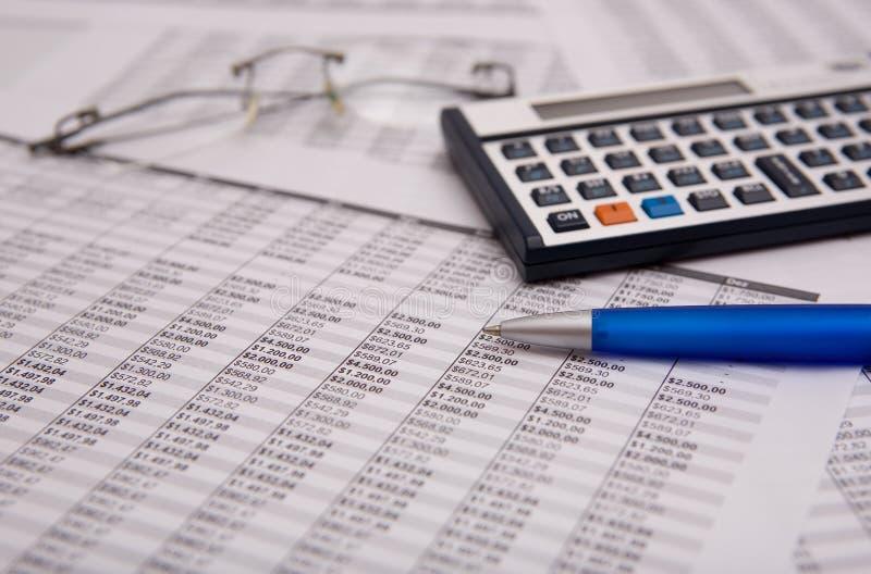 Financiële caculator royalty-vrije stock afbeelding
