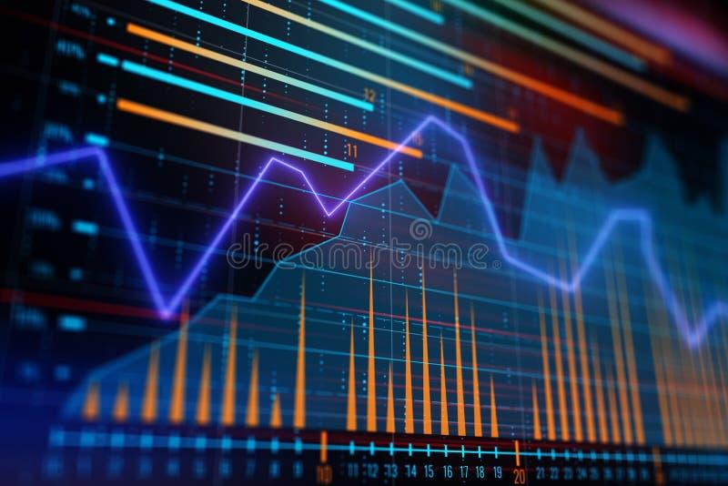 Financiële conceptengrafiek stock illustratie