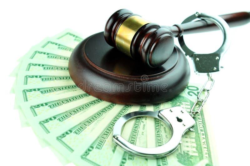 Financiële criminaliteitconcept stock afbeeldingen