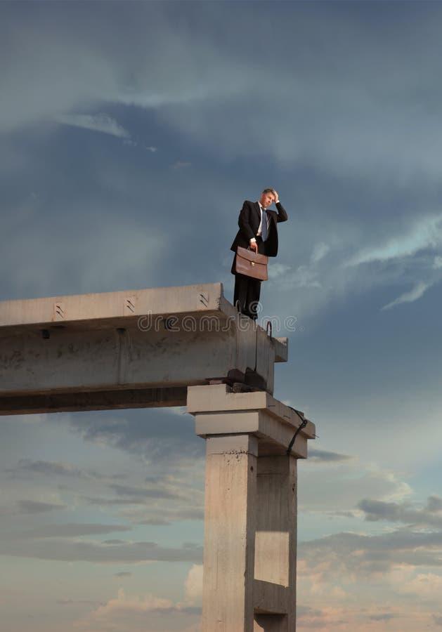 Financiële crisis stock afbeelding