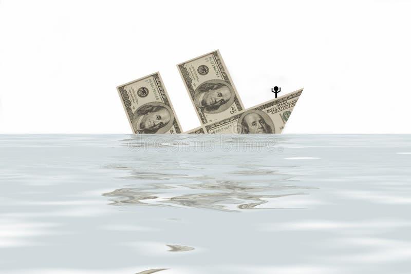 ?financiële crisis? vector illustratie