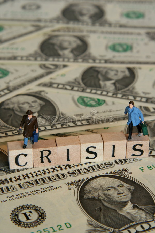 Financiële crisis stock afbeeldingen