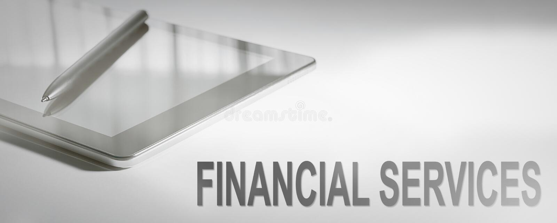 FINANCIËLE de DIENSTEN Bedrijfsconcepten Digitale Technologie stock afbeelding