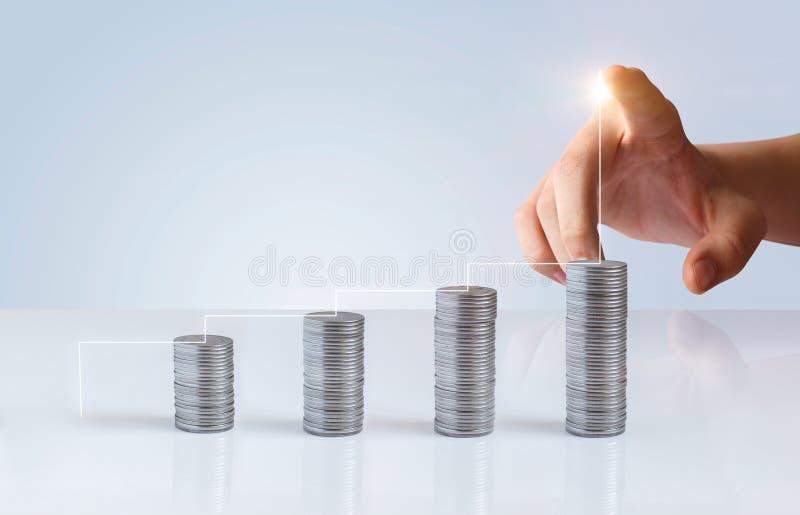 Financiële de groei en succesladder royalty-vrije stock afbeeldingen