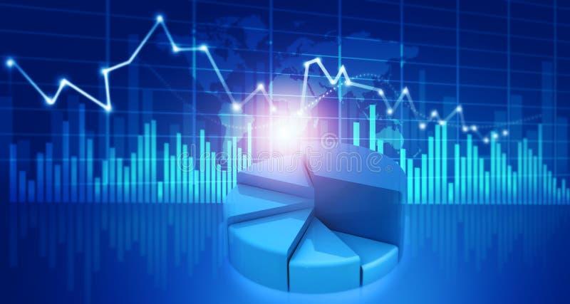 Financiële de groeigrafiek stock illustratie