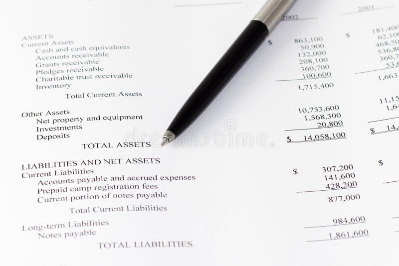 Financiële de zaken analyseren activa stock afbeelding