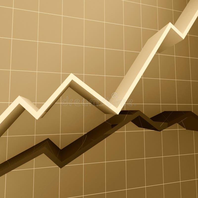 Financiële diagramsepia toon stock illustratie