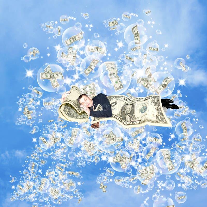 Financiële dromen over geld royalty-vrije stock afbeeldingen