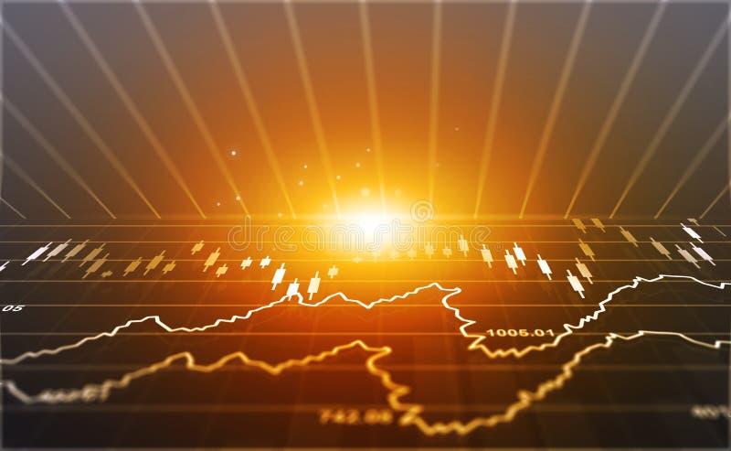 Financiële effectenbeursgrafiek stock afbeelding