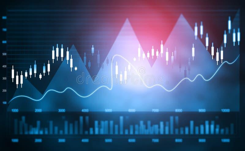 Financiële effectenbeursgrafiek stock afbeeldingen