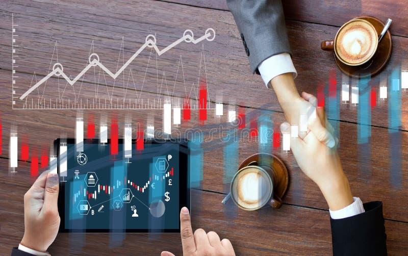 Financiële forex effectenbeurs, financieel, bedrijfskaarsstok g royalty-vrije stock foto