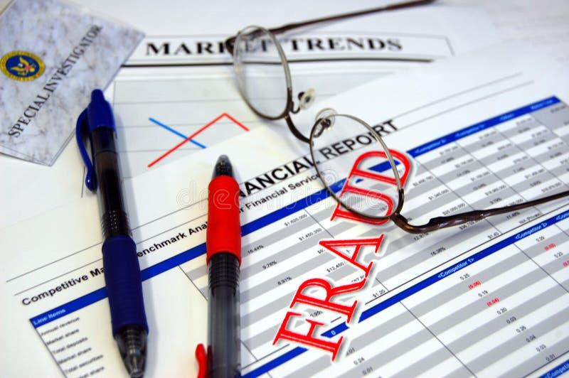 Financiële fraude royalty-vrije stock afbeeldingen