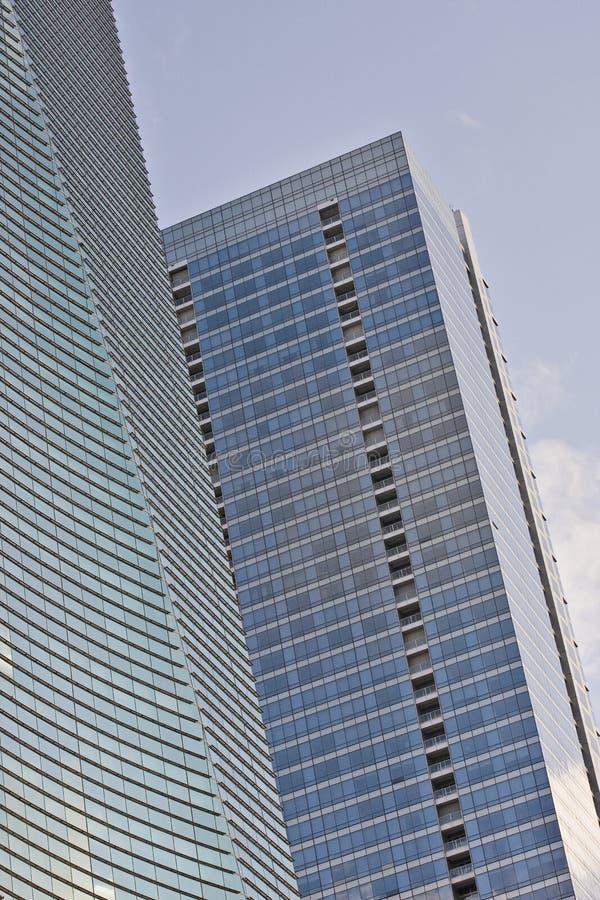 Financiële gebouwen in Miami royalty-vrije stock afbeeldingen