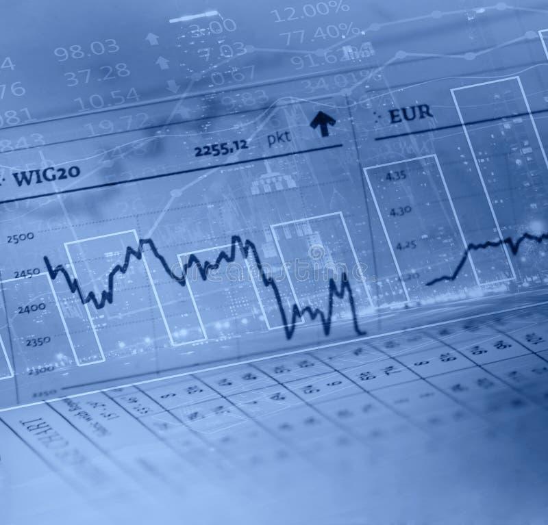 Financiële gegevens vector illustratie