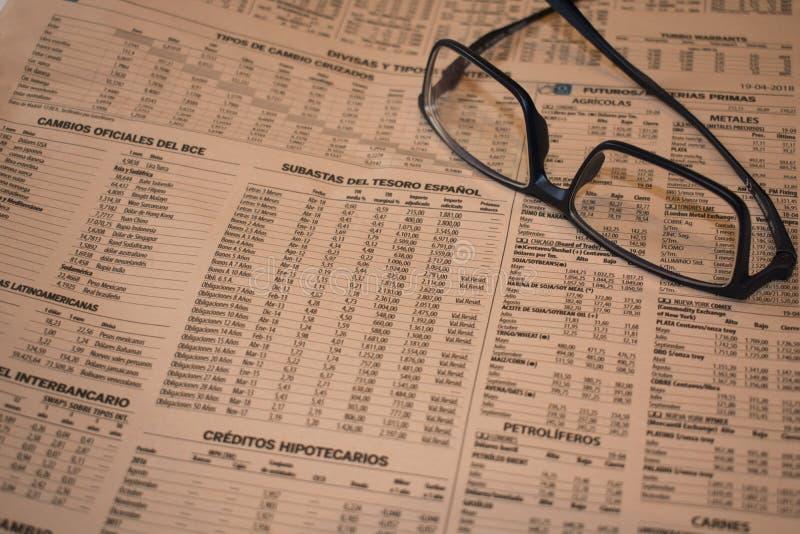Financiële gegevens van banden, rekeningen en schatkistverplichtingen royalty-vrije stock afbeelding