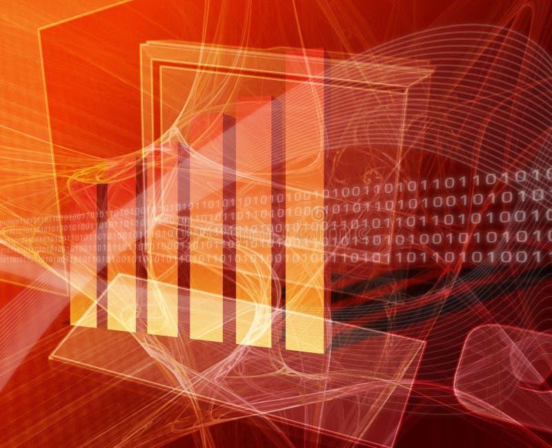 Financiële gegevensverwerking stock illustratie
