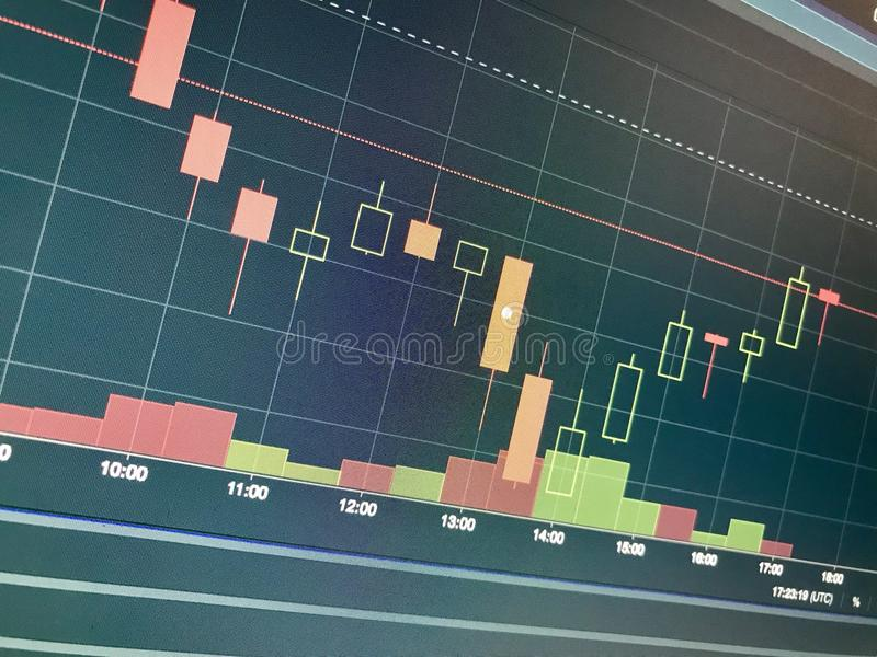 Financiële grafiek royalty-vrije stock fotografie