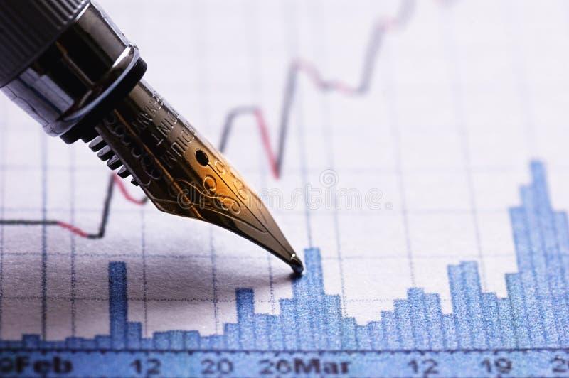 Financiële grafiek stock afbeeldingen