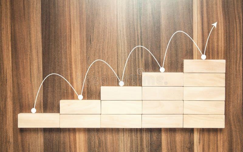 Financiële grafiek Het concept van de groei stock fotografie