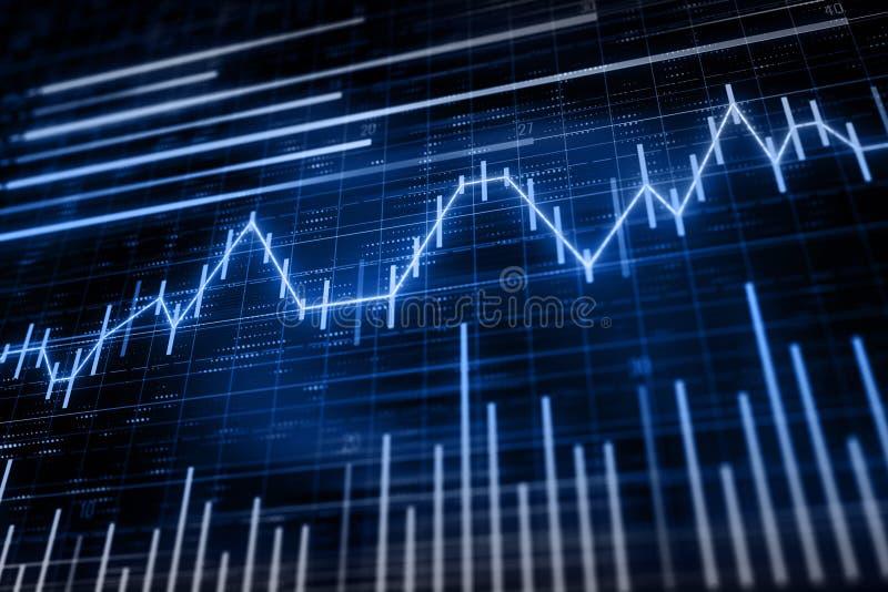 Financiële grafiek met kandelaars vector illustratie