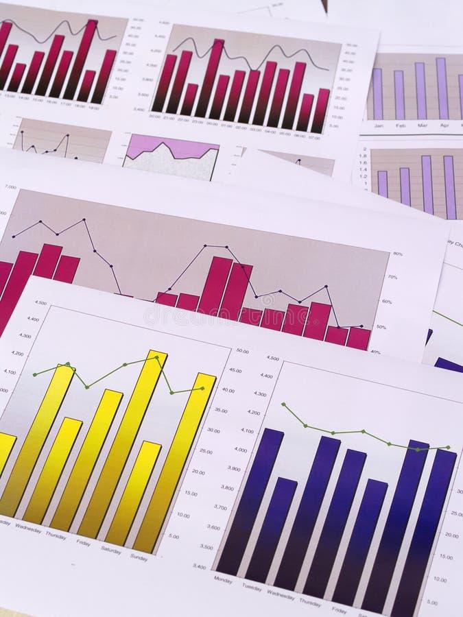 Financiële grafieken stock foto
